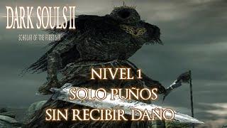 NIVEL 1 VS SEÑOR DE LOS GIGANTES SIN RECIBIR DAÑO (SOLO PUÑOS) - DARK SOULS 2 SOFT