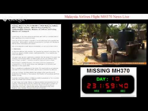 Malaysia Airlines Flight MH370 News Live (17/3/2014)