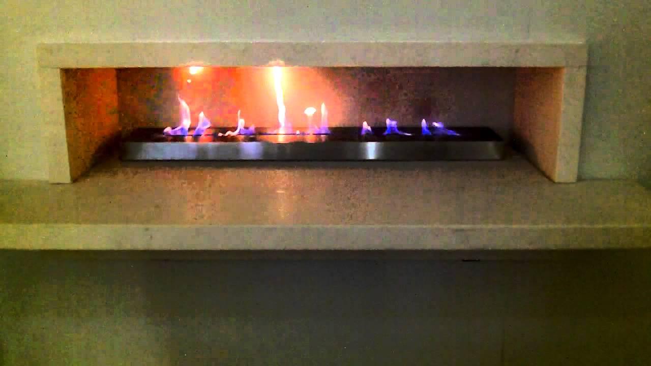 1000mm bioethanol ribbon fire burner insert by spirit fires youtube