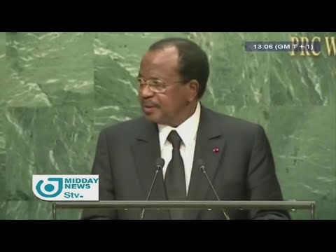 STV MIDDAY NEWS 01:00 PM -(Paul BIYA in NEW-TORK)- Monday 18th September 2017 - DINKA John-Paul SAMA
