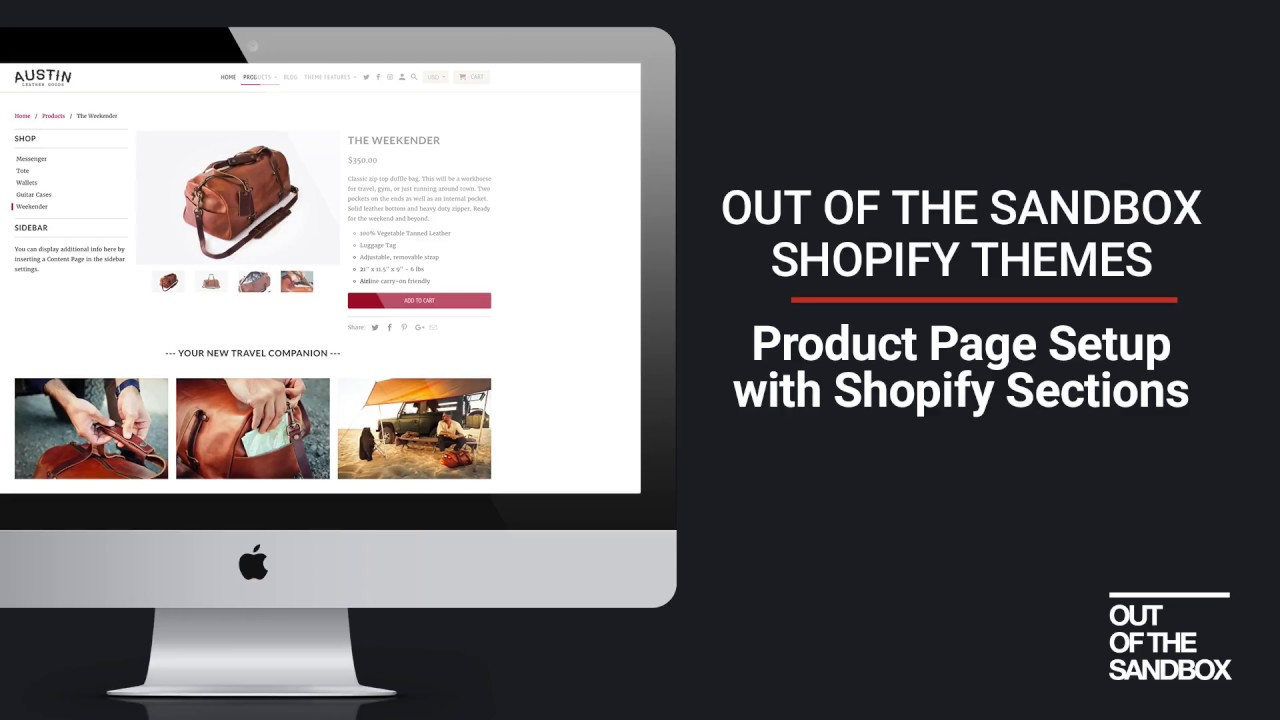 Out Of The Sandbox Product Page Setup With Shopify Sections YouTube - Shopify template language