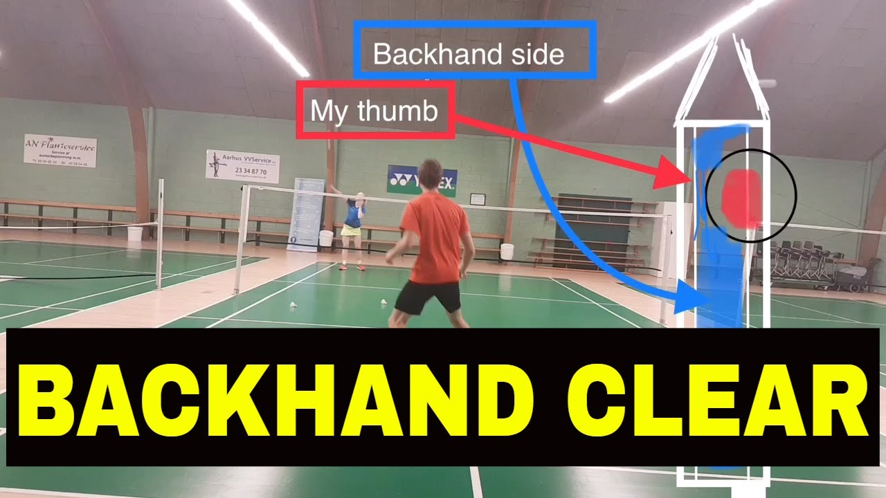 how to clear in badminton