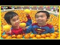 Learn Colors with Baby ORANGE Pool for Children Song Finger Family Nursery Rhymes for kids Colours