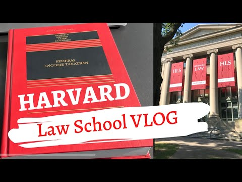 Law School Study VLOG | HARVARD