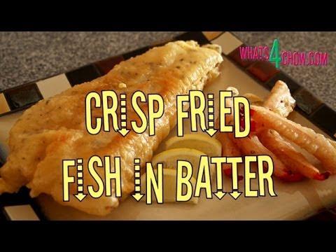 Crispy Fried Fish in Batter. How to make batter fried fish. Crispy light batter for fish recipe.