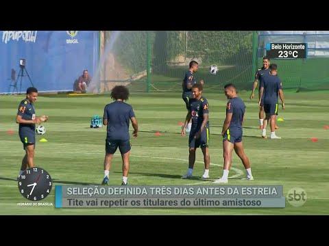Seleção Brasileira já está definida para jogo de estreia contra Suíça | SBT Brasil (14/06/18)