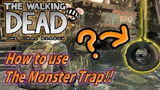 【The Walking Dead: The final season】How to use the monster trap!!  ウォーキングデッド ゲーム シーズン4 最終章 【日本語字幕】