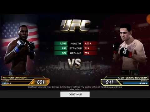 UFC Mobile Anthony Johnson Heavyweight Career Mode Stage 21 - 25
