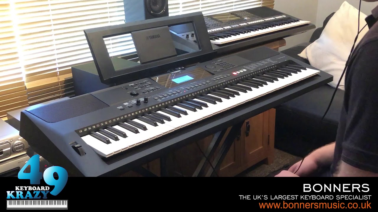 the new yamaha psr ew410 keyboard 758 sounds part 3 3. Black Bedroom Furniture Sets. Home Design Ideas