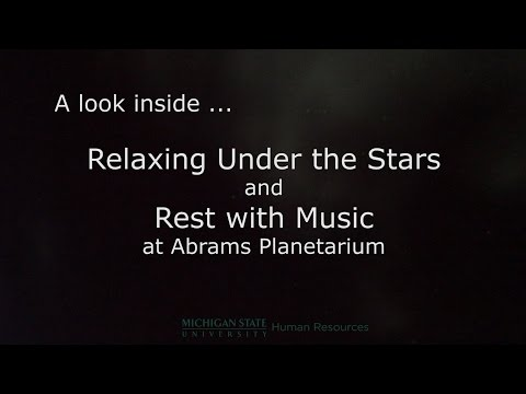 Relaxing Under the Stars and Rest with Music at Abrams Planetarium