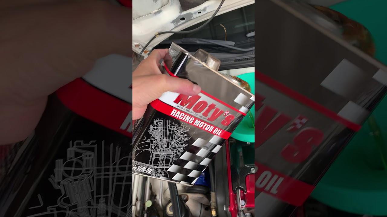 JAY Meter-TEC 三菱 CT9A EVO 7代 機油保養 使用 日本原裝 Moty's M111 15W50 酯類機油 - YouTube