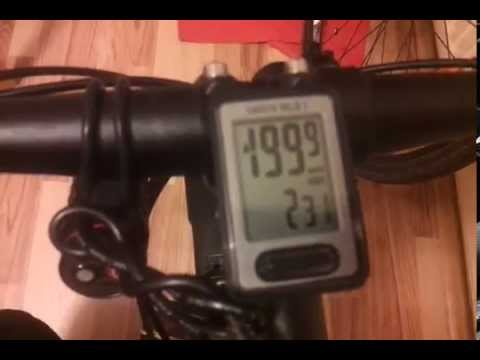 How To Set Up Your Bicycle Odometer After Reset C Youtube