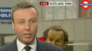 Pranking Sky News Reporter With Air Horn Live On TV!