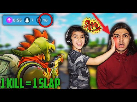 1 KILL = 1 SLAP CHALLENGE WITH MY 5 YEAR OLD BROTHER | 5 YEAR OLD PLAYS SOLO FORTNITE: BATTLE ROYALE