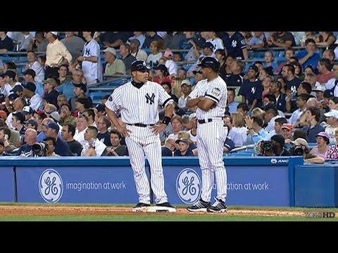 LAA@NYY: Pudge makes his Yankees debut