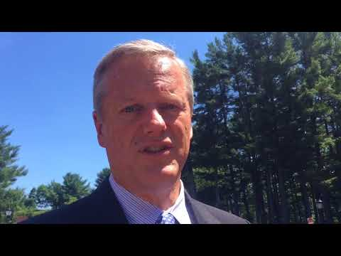 Gov. Charlie Baker reacts to President Donald Trump's Supreme Court nominee