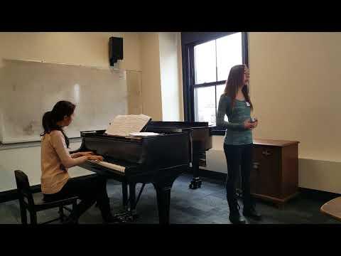 Katelyn Baker rehearsal for Carnegie Hall