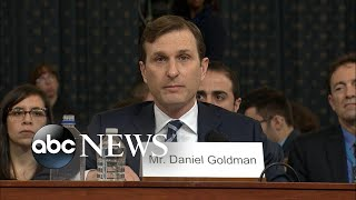 Director of Investigations delivers opening statement at impeachment hearing | ABC News