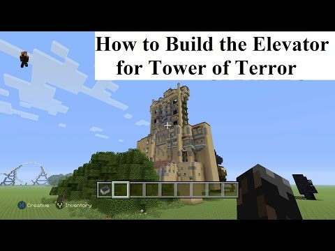 How to build the Tower of Terror part 1 (Elevator Shafts, No MODS): Minecraft