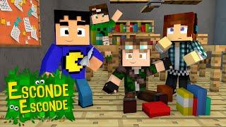 Minecraft: YOUTUBERS NA ESCOLA! (Esconde-Esconde)