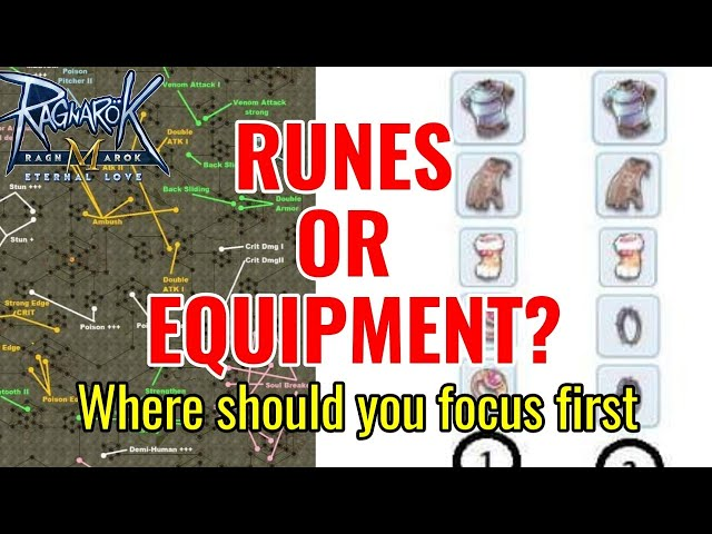 Runes or Equipment? Where to focus first!