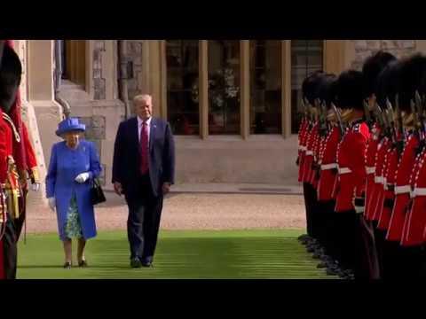 Видео  Трамп оконфузился на встрече с Елизаветой II