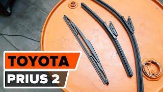 Oglejte si kako rešiti težavo z zadaj in spredaj Metlice brisalcev TOYOTA: video vodič