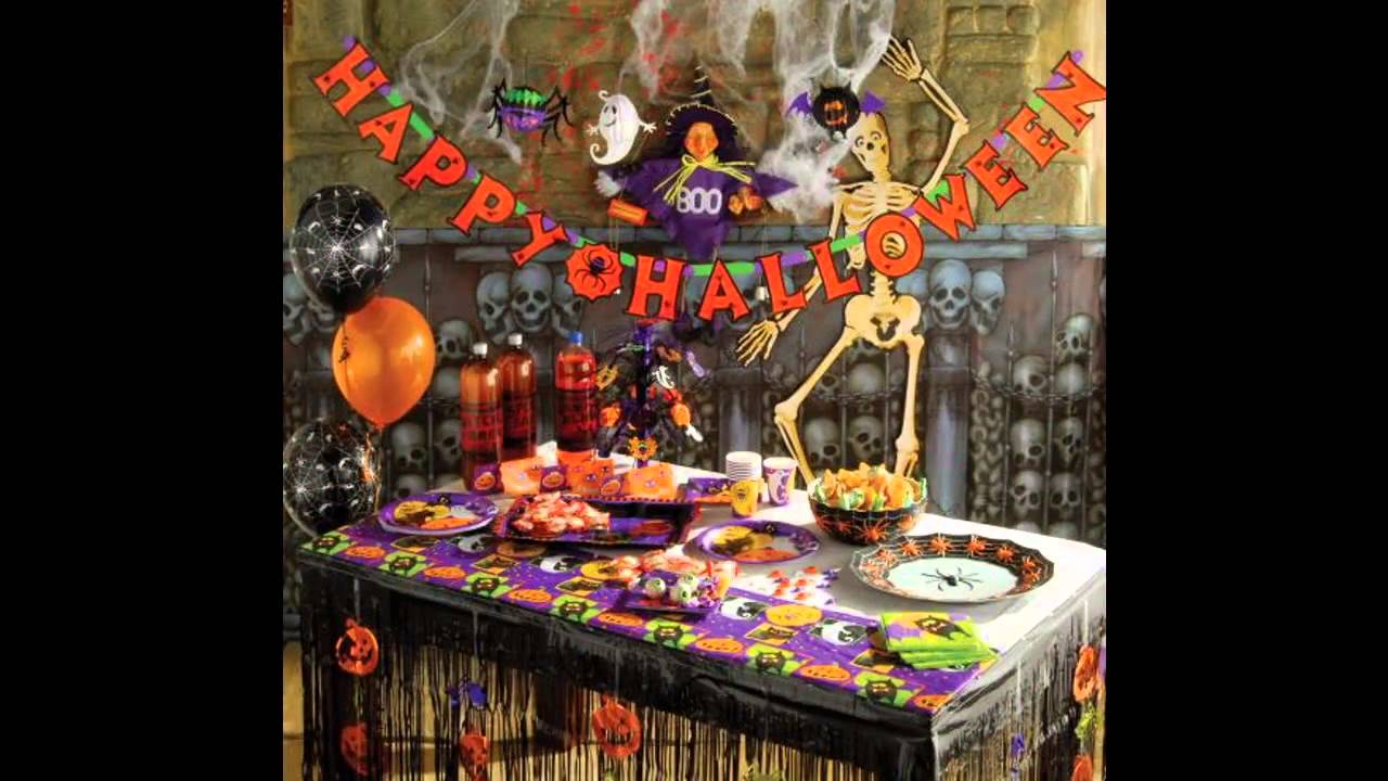 at home halloween party decorating ideas youtube - Halloween Party Decorating Ideas