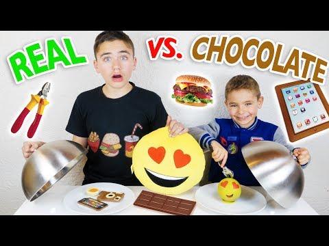 CHOCOLATE VS REAL FOOD CHALLENGE !!! - Trucs réels ou Chocolats ?