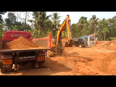 Sany SY35U mini excavator Working in Kerala Site!!!
