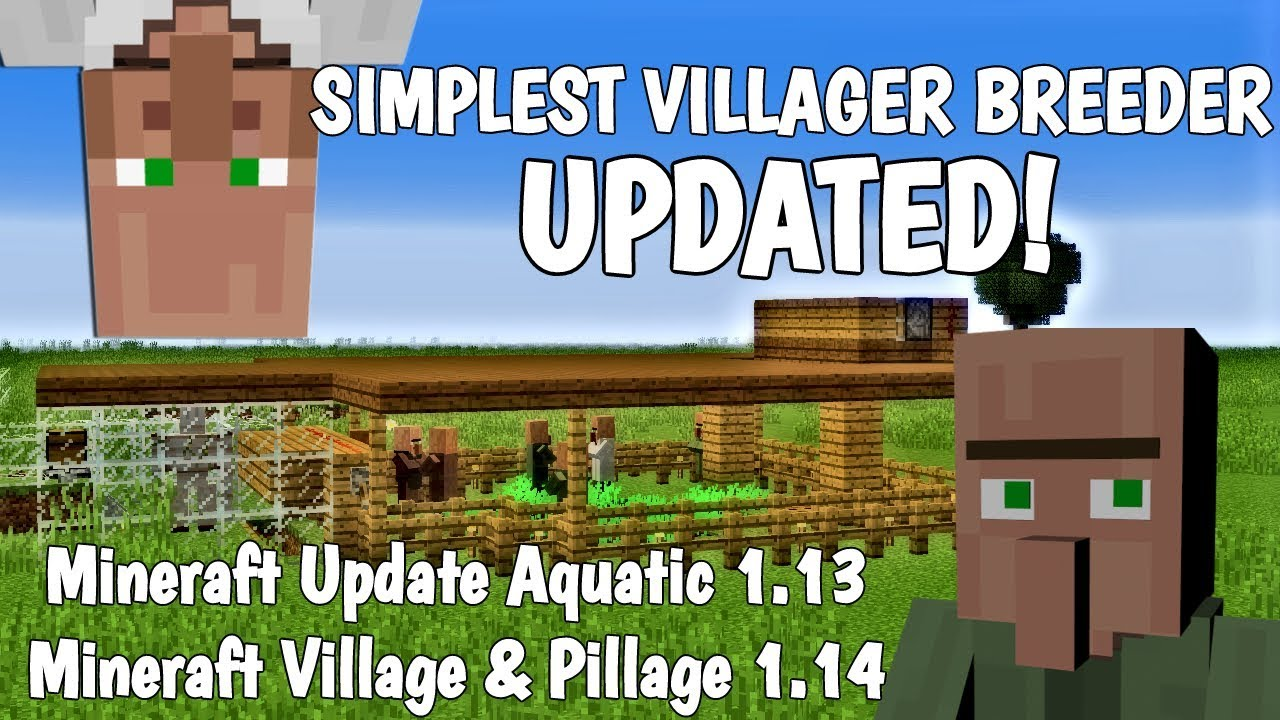 Simple Villager Breeder Farm: How to make a Villager Breeder in Minecraft  (2019) with Avomance