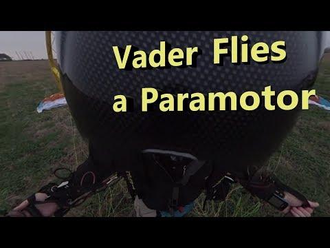 Vader Flies a Paramotor