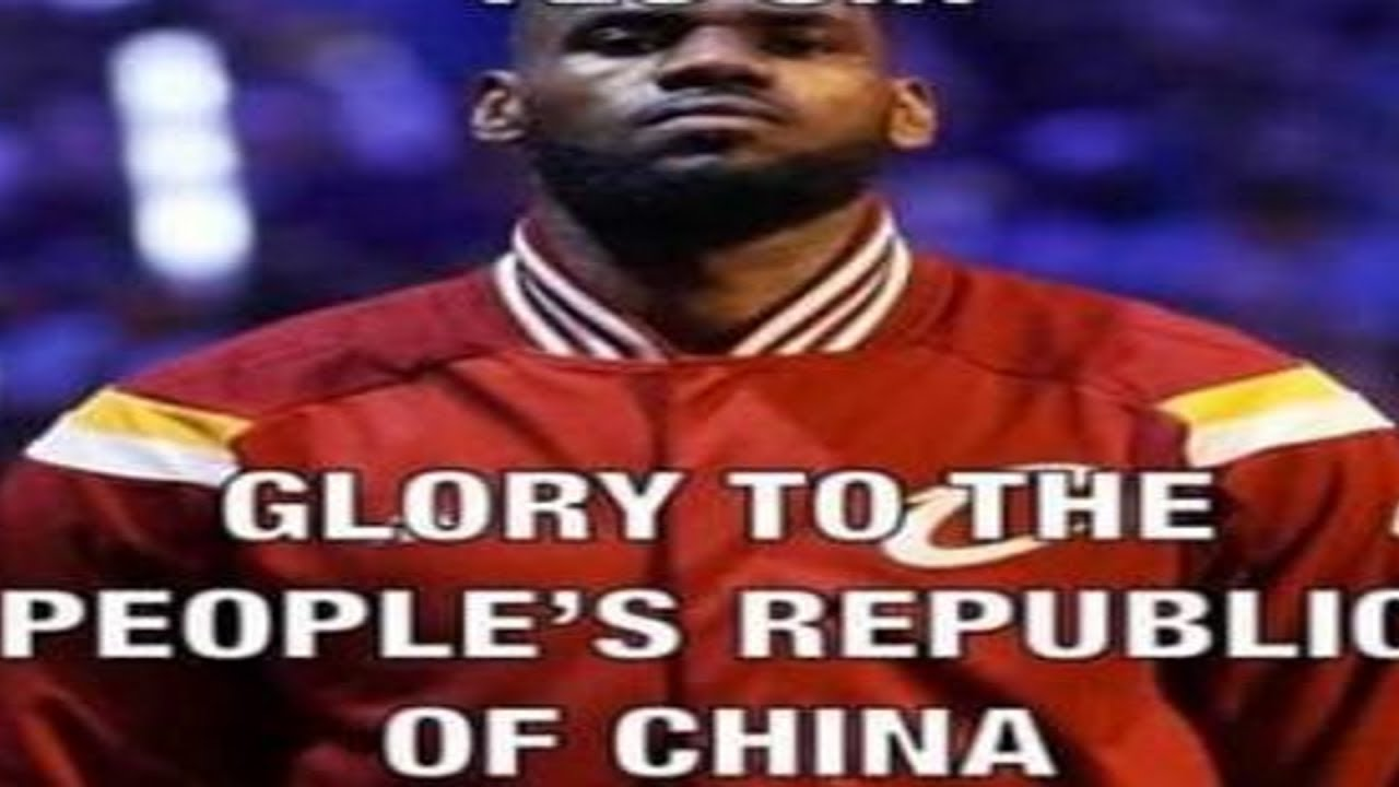 LeBron James drops it low for god emperor Xi JinPing - YouTube
