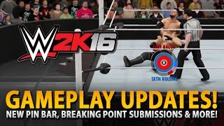 WWE 2K16: New Submission System, Pin Bar & More! (Gameplay Breakdown)