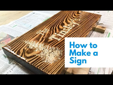 DIY // HOW TO // Make a Family Name Sign With Wood