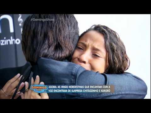 Irmãs ganham surpresa ao conhecerem os ídolos Chitãozinho e Xororó