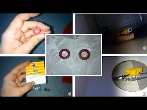 При покупке газового шланга заменяйте прокладки