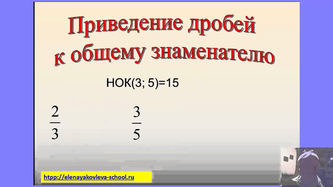 6 класс Урок №11. Сравнение, сложение и вычитание дробей с разными знаменателями.