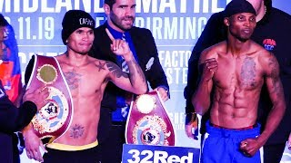 Zolani Tete vs John Riel Casimero FULL WEIGH-IN | Frank Warren boxing