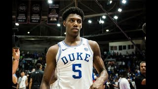 RJ Barrett - Duke Highlights 2019