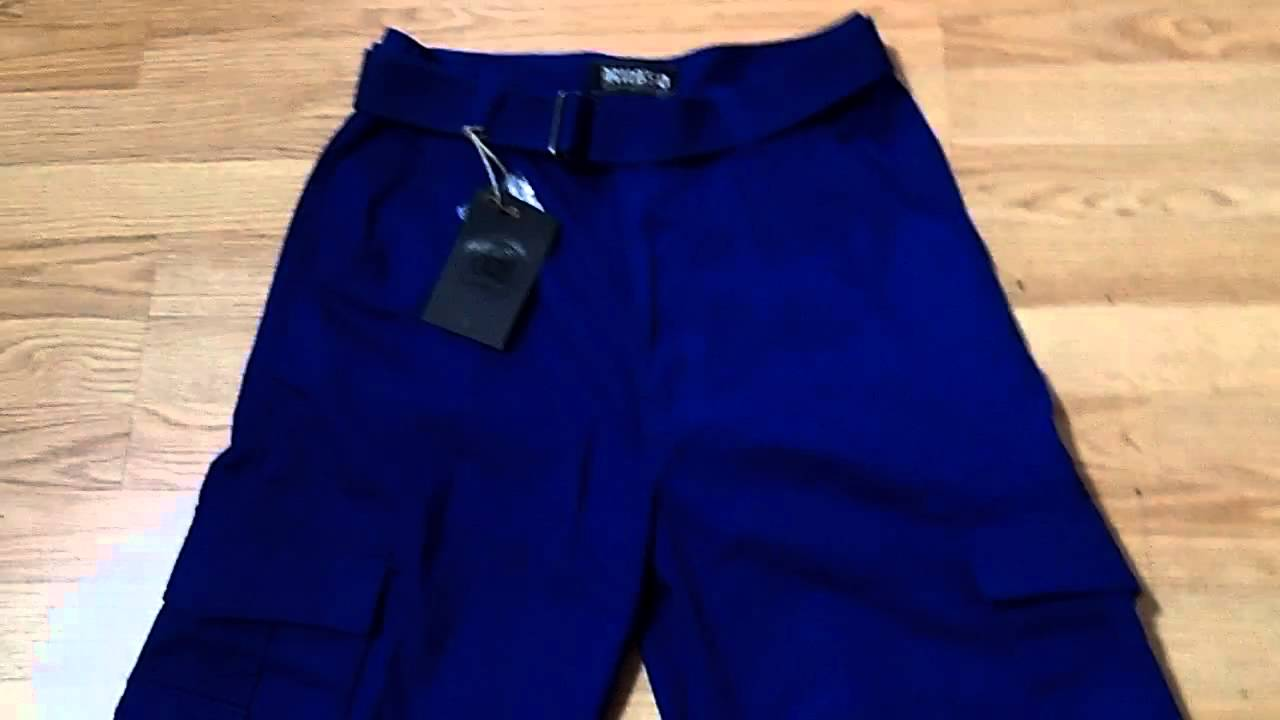 Royal Blue Cargo Shorts By Russo - YouTube