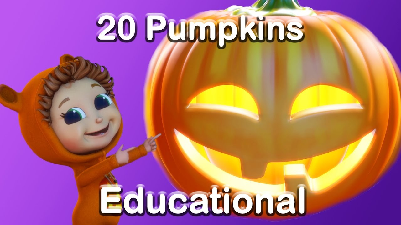 20 pumpkins counting song | halloween song (learn counting