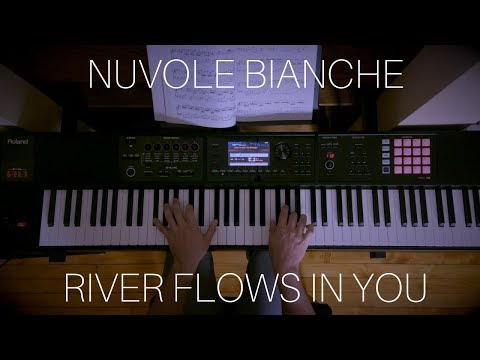 Nuvole Bianche  River Flows in You  Piano Mashup