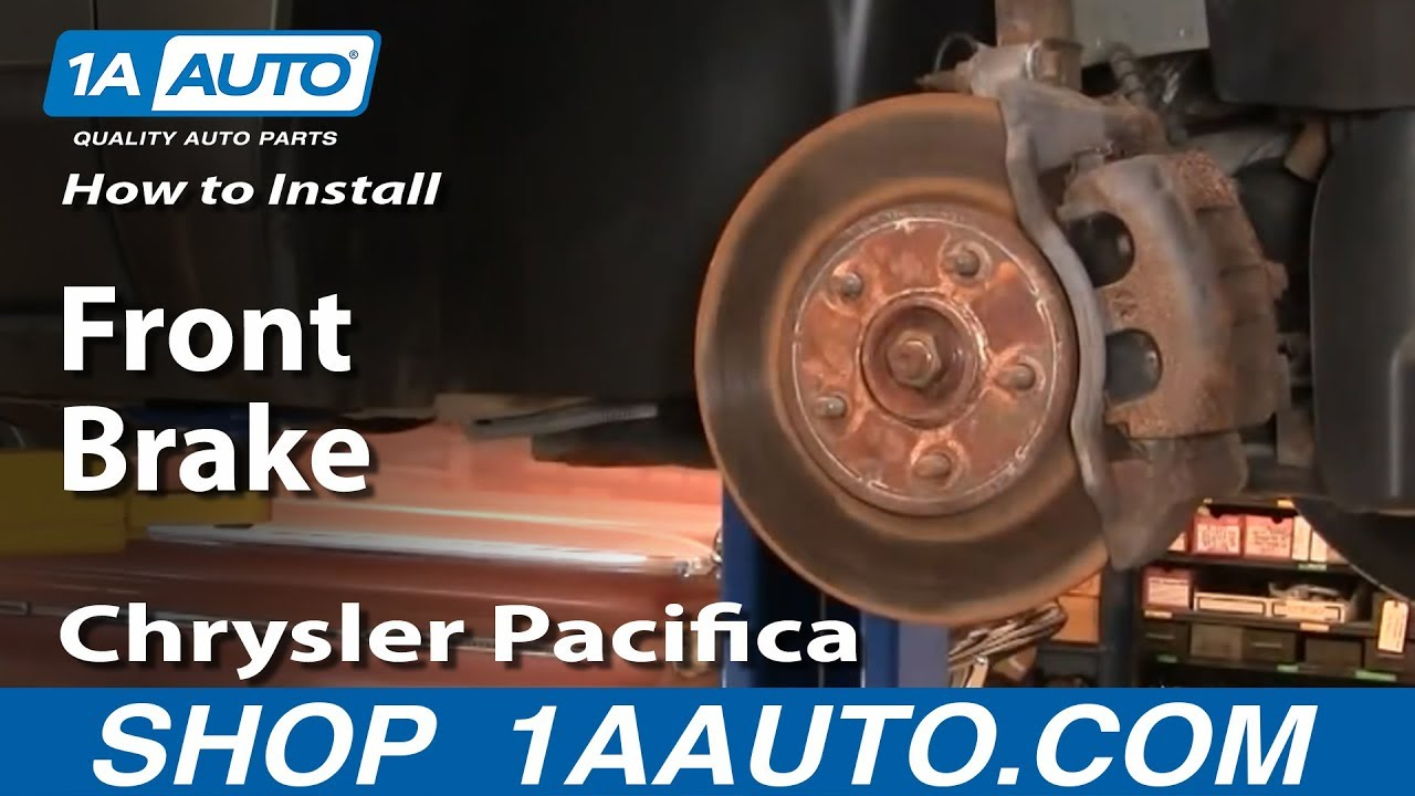 How To Install Replace Do a Front Brake Job Chrysler Pacifica 04 ...