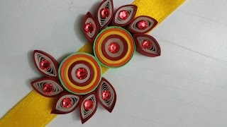 How To Make Quilling Rakhi