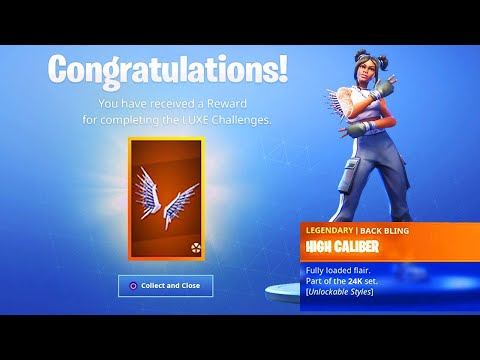 The New Luxe Backbling In Fortnite High Caliber Tier 100