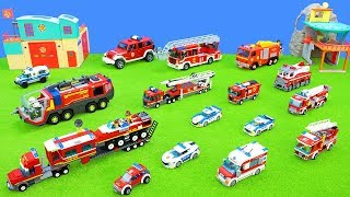 Fire Trucks & Police Cars: Lego City & Duplo, Fireman Sam, Playmobil | Toy Unboxing for Kids