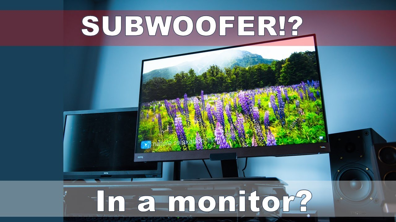 BenQ EW3280U 32-Inch 4K Monitor UHD HDR IPS with built in subwoofer!