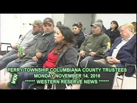 PERRY TOWNSHIP COLUMBIANA COUNTY OHIO TRUSTEES NOVEMBER 14, 2016 MEETING