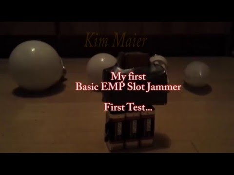 DIY EMP Generator Slot Jammer first Test 2016 3x 9 Volt Störsender